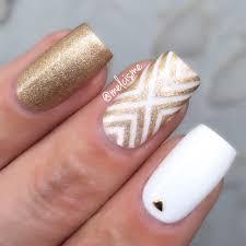 x design in white u0026 gold beauty nails pinterest white gold
