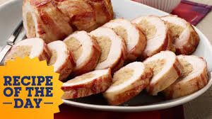 traditional roast turkey recipe alton brown food network recipe of the day bacon wrapped turkey roll food network