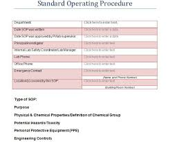 Writing Standard Operating Procedures Template 37 best standard operating procedure sop templates
