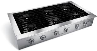 Outdoor Gas Cooktops Electrolux E48gc76eps 48 Inch Sealed Burner Slide In Gas Cooktop