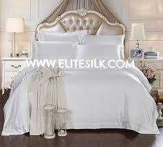 White Silk Bedding Sets 22mm Silk Bedding Set King Snow White Including Duvet