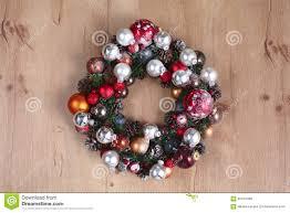 advent christmas wreath on wooden door decoration stock photo
