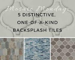 mosaic monday 5 distinctive one of a backsplash tiles