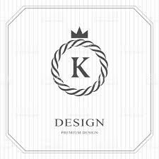 design logo elegant abstract monogram round template linear seamless pattern modern