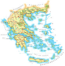 Map Of Italy And Greece by Greece Online Maps Geographical Political Road Railway