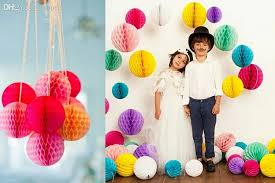 background decoration for birthday party at home 6 8 15 20cm paper honeycomb flower ball party stage canopy