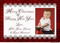 no photo personalized cards merry and happy