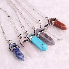 stone necklace pendants images Healing stone pendant necklace treasure fan jpg