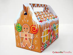 printable pdf christmas gingerbread house gift box with ed u2026 flickr