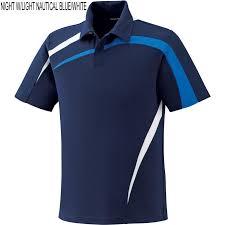 Blue Ash Color by Ash City Impact North End Men U0027s Performance Polyester Pique Color