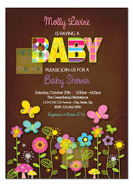 butterfly baby shower invitation butterflies and flowers