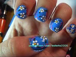 flower nail designs using migi nail art youtube