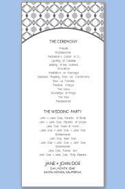 wedding programs printable wedding program templates free printable wedding program templates