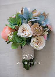 faux flower arrangements how to make a faux flower bridal bouquet