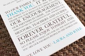 wedding program thank you wording for parents u2014 criolla brithday
