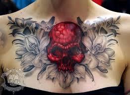 29 best chest skull tattoos images on pinterest skull tattoos
