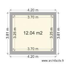 chambre de 12m2 chambre 12m2 plan 1 pièce 12 m2 dessiné par mipette