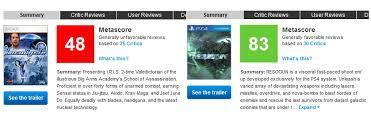 Seeking Metacritic Xbox One Launch Titles Destroy Ps4 Launch Titles On Metacritic