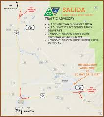 Denver Traffic Map Work To Begin In Downtown Salida After Labor Day Weekend U2014