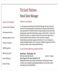 resume for retail sales manager best sales resume free premium templates