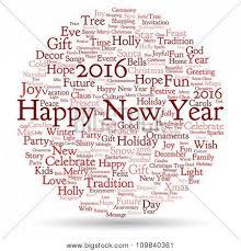 vector concept or conceptual happy new year 2016