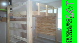 Free Full Size Loft Bed With Desk Plans by Full Size Loft Bed Video 1 039 Youtube