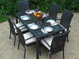 8 Piece Patio Dining Set - patio 43 412067 resin wicker 7 piece patio dining set gray
