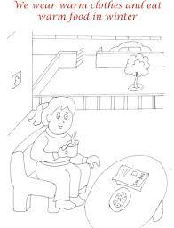 winter season coloring printable page4 for kids