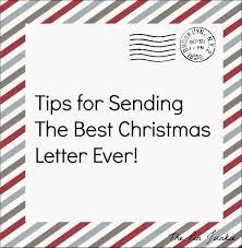 tips for sending the best christmas letter ever