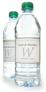 free printable bride and groom wedding water bottle labels