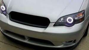 subaru legacy custom 2005 subaru legacy gt custom led halo headlights youtube