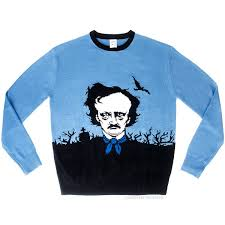 an edgar allan poe sweater for halloween by archie mcphee
