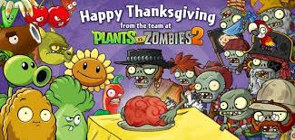 plants vs zombies on happy thanksgiving from the plants