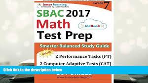 audiobook sbac test prep 7th grade math common core practice book