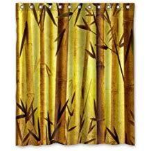 Bamboo Print Shower Curtain Amazon Com Bamboo Shower Curtain