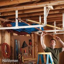 How To Build Garage Storage Lift by Easy Garage Storage Solutions Family Handyman
