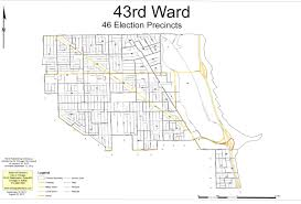 Map Of Chicago Illinois by Ward Mapchicago U0027s 43rd Ward Chicago U0027s 43rd Ward