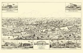 Longwood Florida Map by Vintage Poster Vintage Map Of Longwood Florida 1885 Orange County