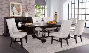 dining room sets with fabric chairs mill river trestle table dining set the dump america u0027s