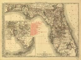 historic maps of florida historical map of florida railroads 1900