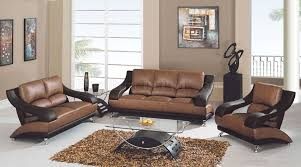 Brown Bonded Leather Sofa 982 Modern Living Room In Tan Brown Leather By Global