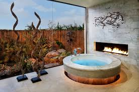 Cool Bathroom Designs Bathroom Intresting Bathroom Design With White Wall Fireplace