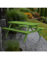 Lime Green Table L New Savings On Outdoor A L Furniture Yellow Pine Picnic Table
