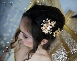 gold hair accessories gold hair gold barrettes and hair gold wedding hair