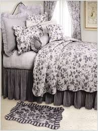 Black And White Toile Duvet Cover Fresh Blue French Toile Bedding Sets 14379