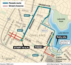 Rose Parade Route Map by Warriors Parade In Oakland Set For Thursday Morning Sfgate