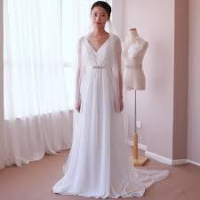 vintage summer wedding dresses vintage sleeve simple crystals a line casual fall