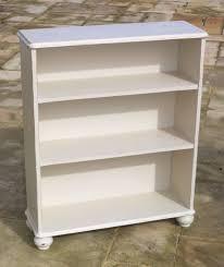 furniture home shabby chic distressed chalk white bookcase design