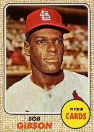 1968 topps bob gibson 100 baseball card value price guide