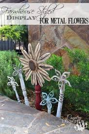 farmhouse metal flowers country design style